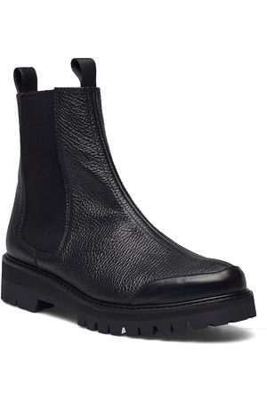 Flattered Sally Black Leather Shoes Chelsea Boots