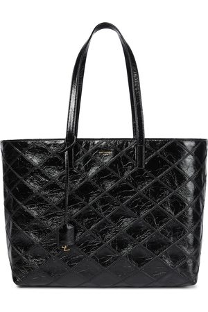 Saint Laurent Shopping E/W quilted leather tote