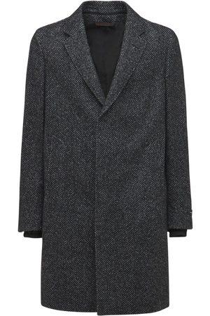 ERMENEGILDO ZEGNA Wool Blend Hooded Overcoat