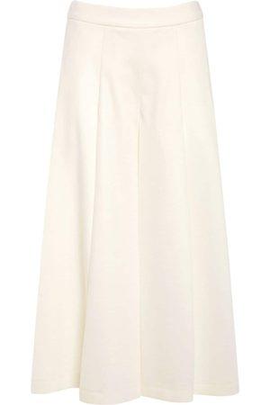 MAX MARA Naiset Leveälahkeiset - Wool Jersey Wide Leg Pants