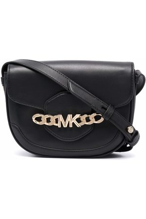 Michael Kors Logo-chain leather crossbody bag
