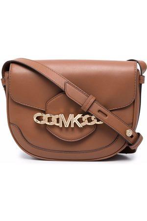 Michael Kors Chain-logo leather crossbody bag