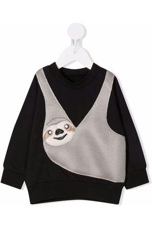 Wauw Capow by Bangbang Sloth-appliquéd jersey sweatshirt
