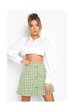 Boohoo Naiset Minihameet - Check Skater Skirt