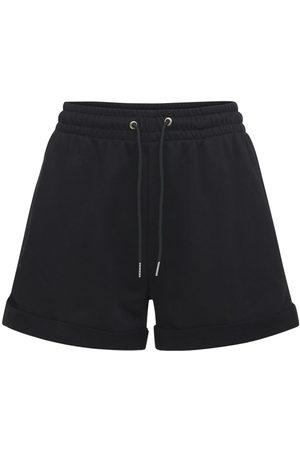 ADAM SELMAN SPORT Cotton Blend Sweat Shorts