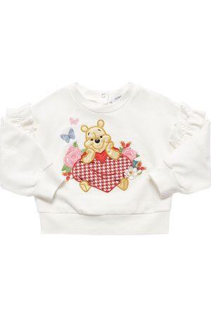 MONNALISA Winnie The Pooh Cotton Sweatshirt