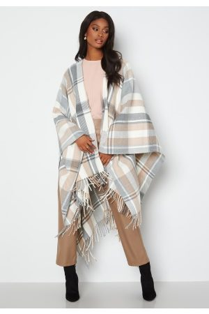 VILA Naiset Päällystakit - Elke Cape Medium Grey Melange One size