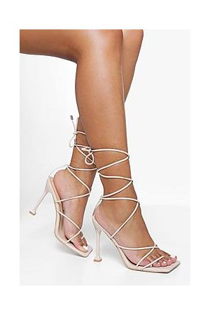 Boohoo Naiset Sandaletit - Square Toe Wrap Up Sandal