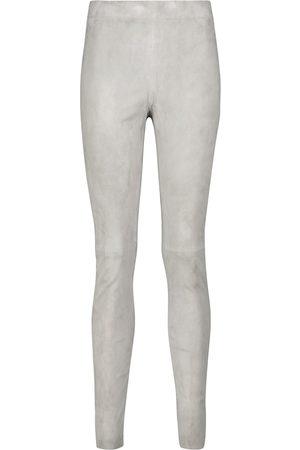 Joseph Naiset Leggingsit - High-rise suede leggings