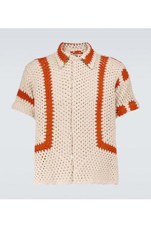 BODE Sunspot crochet cotton shirt