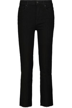 7 for all Mankind Naiset Korkeavyötäröiset - The Straight Crop high-rise jeans