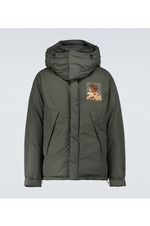 UNDERCOVER Printed hooded puffer jacket