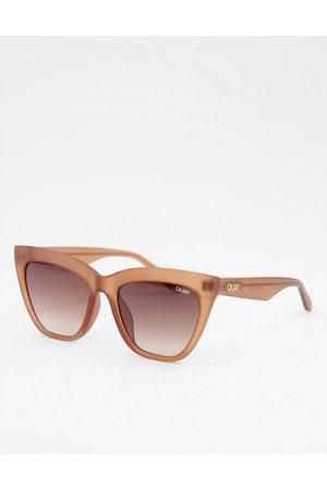 Quay Australia Naiset Aurinkolasit - Quay For Keeps womens cat eye sunglasses in beige-Brown