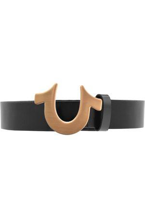 True Religion Miehet Vyöt - Horseshoe Logo Belt Black