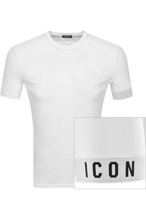 Dsquared2 Logo Sleeve T Shirt White