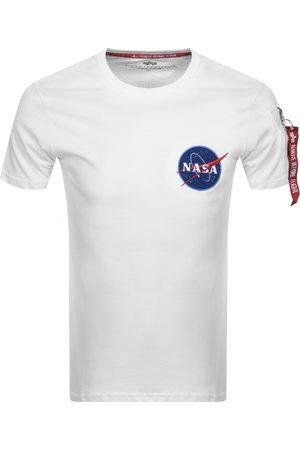 Alpha Industries Nasa Logo T Shirt White