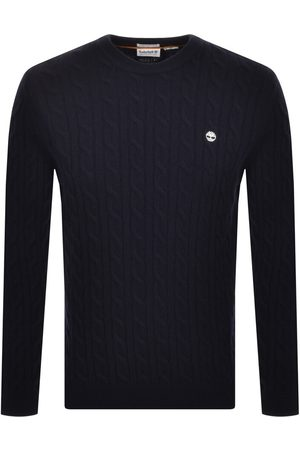Timberland Lambswool Cable Knit Jumper Navy