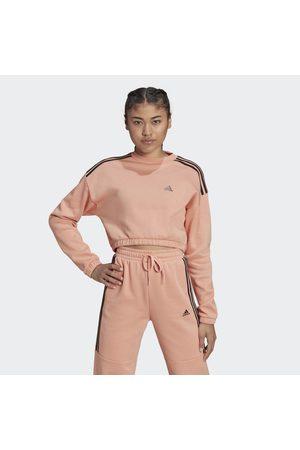 adidas Naiset Collegepaidat - Hyperglam Crop Crew Sweatshirt