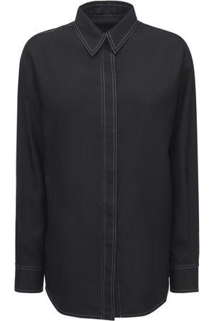 WARDROBE.NYC Silk Pajama Shirt