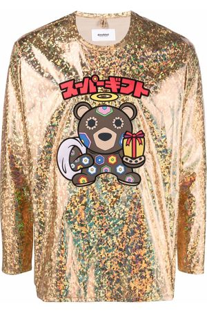 Doublet Holographic-print long-sleeved T-shirt