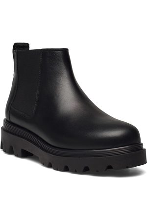 Flattered Lova Black Leather Shoes Chelsea Boots