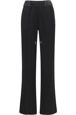 Dolce & Gabbana Naiset Leveälahkeiset - Viscose Satin Wide Leg Pants