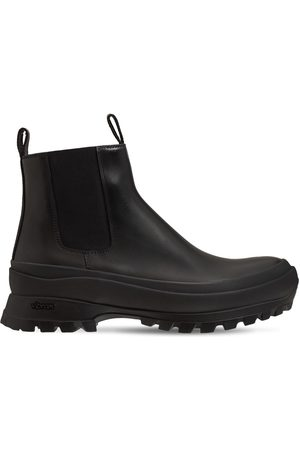 Jil Sander High-top Leather Chelsea Boots