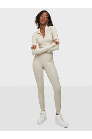 NLY Trend Sporty Zip Set Greige