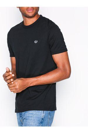 Fred Perry Miehet T-paidat - Ringer T-Shirt T-paidat ja topit Black