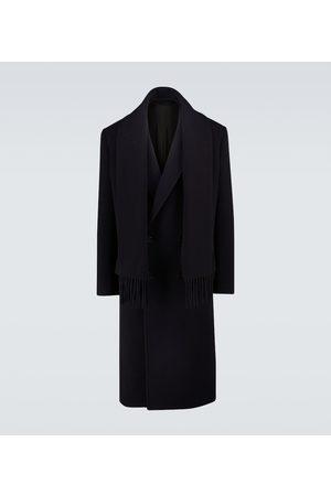 Balenciaga Wool-blend headscarf coat