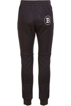 Balmain Miehet Collegehousut - Logo Print Cotton Jersey Sweatpants