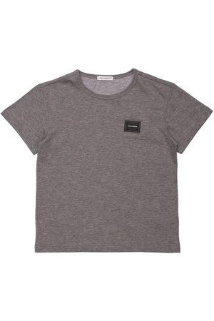 Dolce & Gabbana Pojat T-paidat - Logo Patch Cotton T-shirt