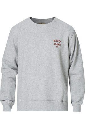 Nudie Jeans Frasse Logo Sweatshirt Grey melange