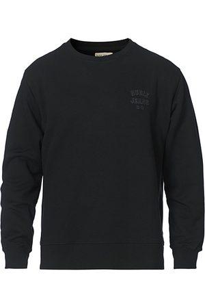 Nudie Jeans Miehet Collegepaidat - Frasse Logo Sweatshirt Black