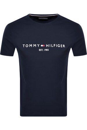 Tommy Hilfiger Miehet T-paidat - Logo T Shirt Navy