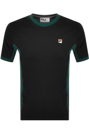 Fila Vintage Miehet T-paidat - Warner Crew Neck T Shirt Black