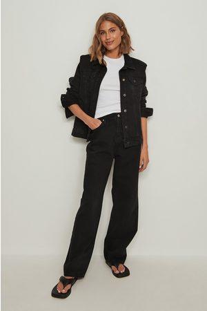 Calvin Klein High Rise Relaxed Jeans - Black