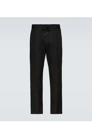 Dolce & Gabbana Drawstring cotton-blend pants
