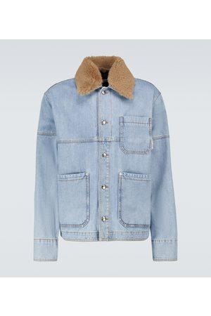 Marni Checked paneled denim jacket