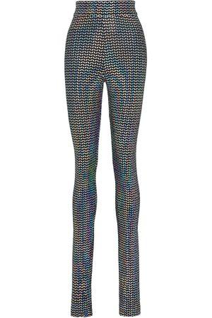 Dolce & Gabbana Naiset Leggingsit - High-waisted metallic leggings