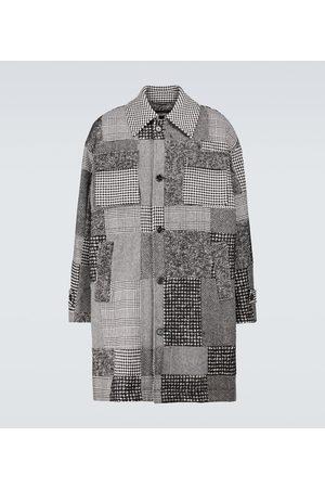 Dolce & Gabbana Patchwork wool-blend coat