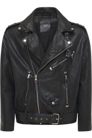 HTC LOS ANGELES Miehet Nahkatakit - Melrose Biker Leather Jacket