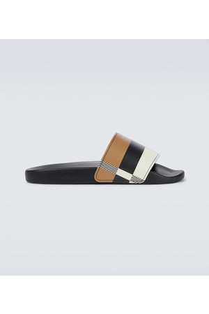 Burberry Furley checked slides