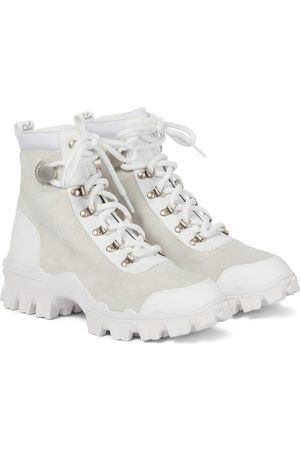 Moncler Helis leather and suede ankle boots