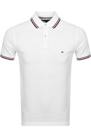 Tommy Hilfiger Tipped Slim Fit Polo T Shirt White