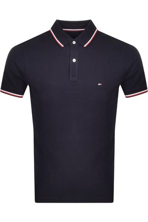Tommy Hilfiger Tipped Slim Fit Polo T Shirt Navy