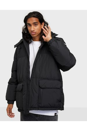 Calvin Klein Jeans Miehet Talvitakit - Blocking Hooded Short Puffer Takit Black