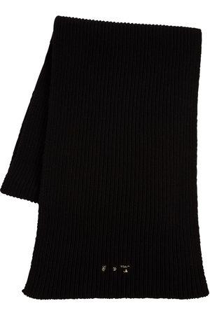 OFF-WHITE Naiset Huivit - Logo Knit Ribbed Wool Scarf