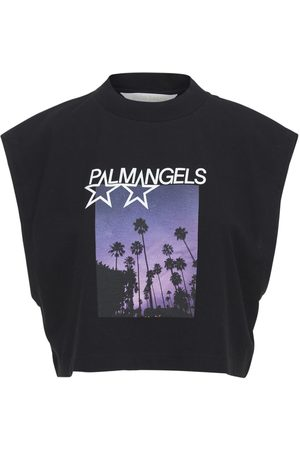 Palm Angels Naiset T-paidat - Shooting Stars Muscle Cotton T-shirt