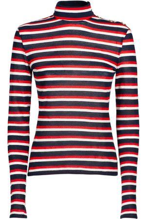 Balmain Naiset T-paidat - Striped Cotton Jersey T-shirt
